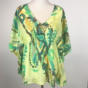 Fresh Produce Womens Swim Yellow Cover Up Top XS/S